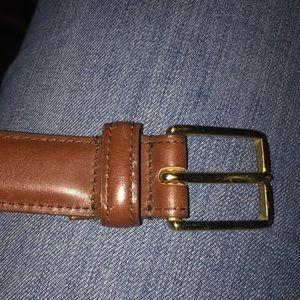 Dooney Bourke curried bridle leather belt brown 28